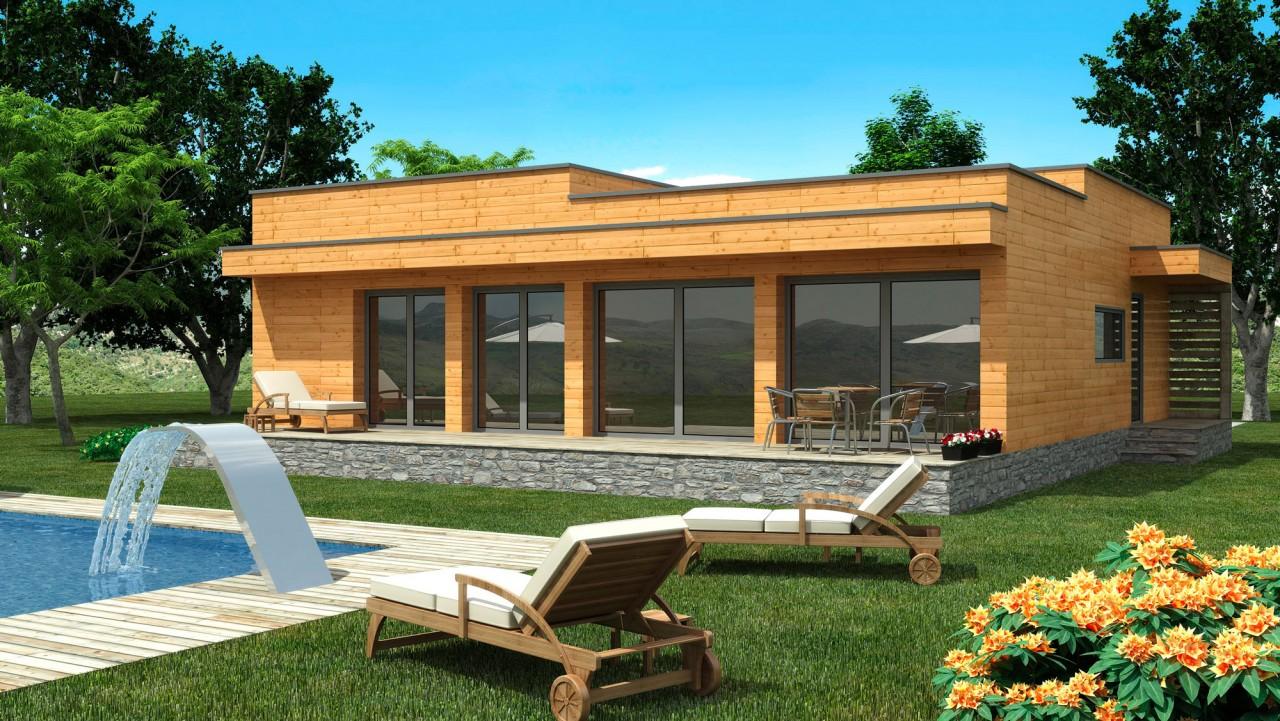 maison-en-kit-moderne-toit-plat